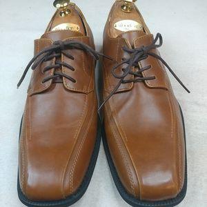 JF J Ferrar Mens 9M Dress Shoes Caramel Brown Vega